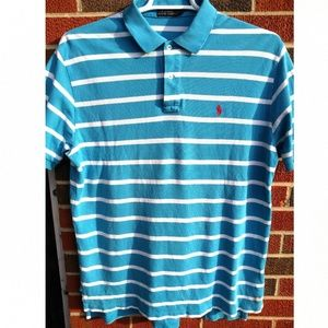 Polo by Ralph Lauren men's L striped polo shirt